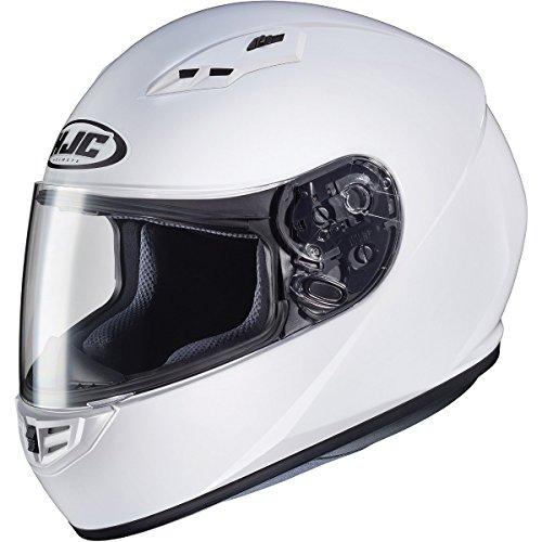 HJC Solid Adult CS-R3 Street Motorcycle Helmet - White  Small