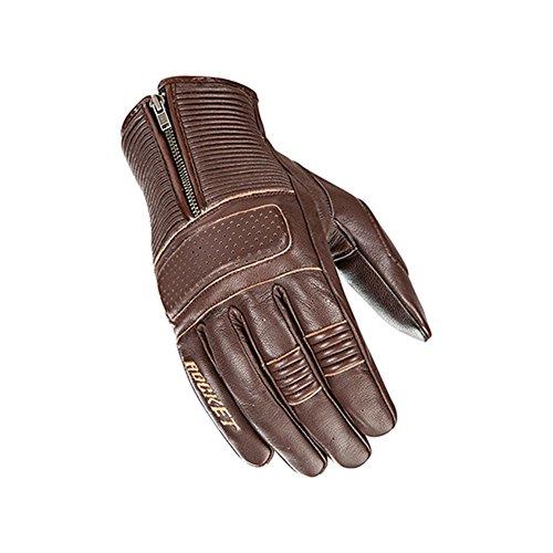 Joe Rocket Cafe Racer Mens Street Motorcycle Leather Gloves - Brown  Large