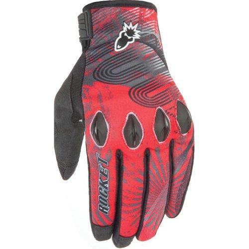 Joe Rocket Rocket Nation 20 Mens Textile Street Motorcycle Gloves - Red  Large