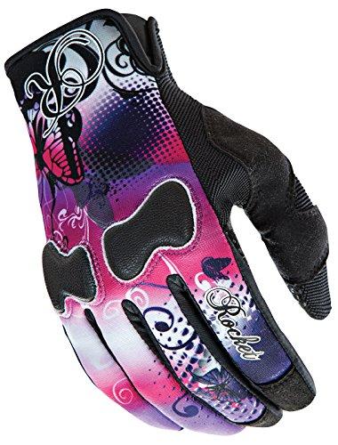 Joe Rocket Rocket Nation Womens Textile Street Motorcycle Gloves - PinkPurple  X-Large