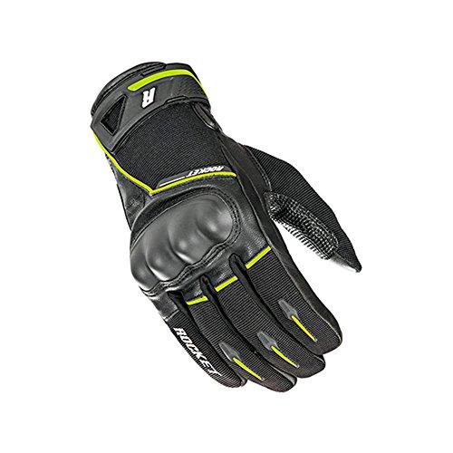 Joe Rocket Supermoto Mens Street Motorcycle Leather Gloves - BlackHi-Viz  Medium