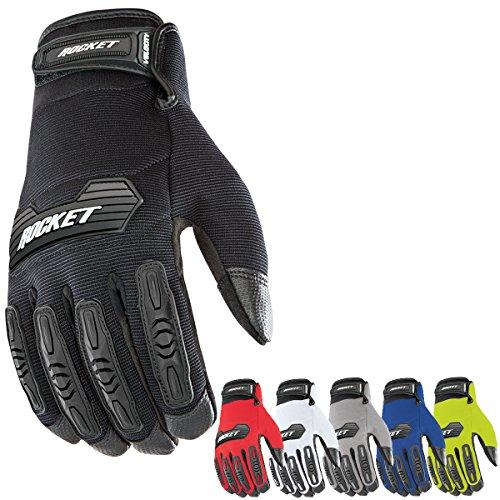 Joe Rocket Velocity 20 Mens Textile Street Motorcycle Gloves - RedBlack  Medium
