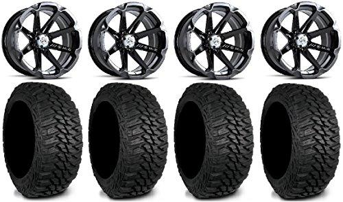 MSA Black Diesel 15 UTV Wheels 31 Mud Hog LT Tires Kawasaki Mule Pro FXT