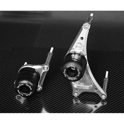 Sato Racing Engine Sliders Abrasion Resistant Delrin for Yamaha 05-11 MT-01 Y-MT01ES-BK