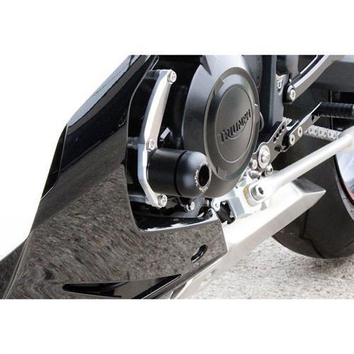 Sato Racing Left Engine Slider for 2013 Triumph Daytona 675 675R T-67513ESL-BK