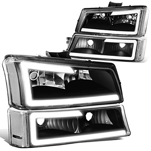 DNA MOTORING HL-LB-CSIL03-BK-CL1-A Black clear LED Headlight Assembly Driver Passenger Side