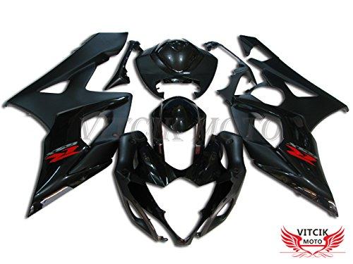 VITCIK Fairing Kits Fit for Suzuki GSXR1000 K5 2005 2006 GSXR 1000 GSX R1000 K5 05 06 Plastic ABS Injection Mold Complete Motorcycle Body Aftermarket Bodywork Frame Black A030