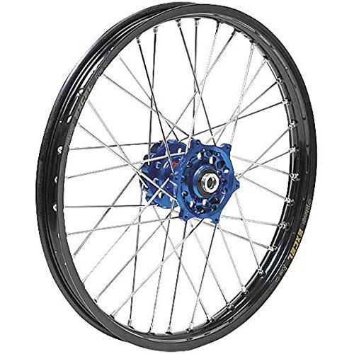 Dubya 56-3063DB Complete Rear Wheel - Blue Talon HubBlack Excel Takasago Rim - 215x19 Position Rear Rim Size 19 Color Blue