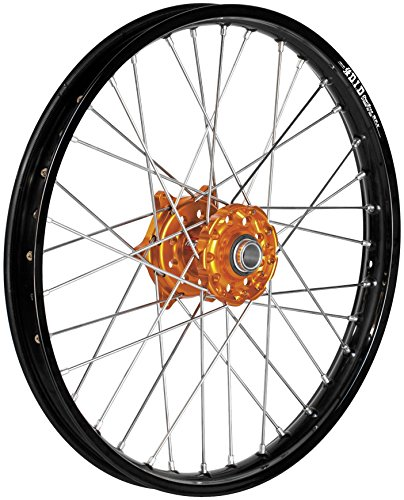 Dubya 56-3132OB Complete Front Wheel - Orange Talon HubBlack Excel Takasago Rim - 160x21 21