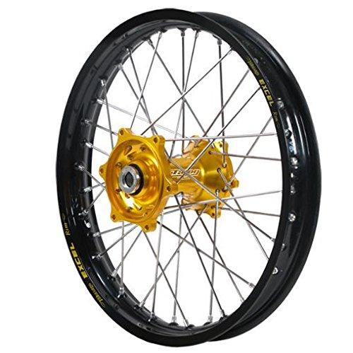 Dubya 56-3134GB Complete Front Wheel - Gold Talon HubBlack Excel Takasago Rim - 160x21 21