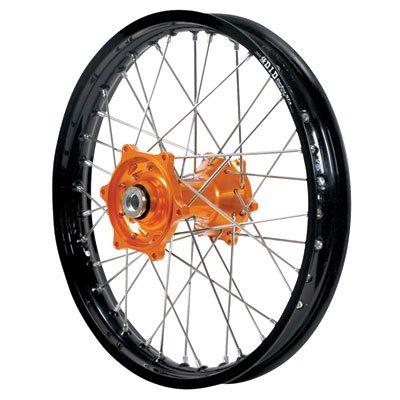 Dubya 56-4066OB-STX Complete Rear Wheel - Orange Talon HubBlack DID STX Rim - 215x18 18