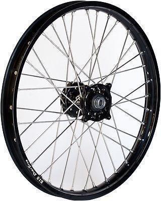 Dubya 56-4104BB Complete Front Wheel - Black Talon HubBlack DID Dirtstar Rim - 160x21 21