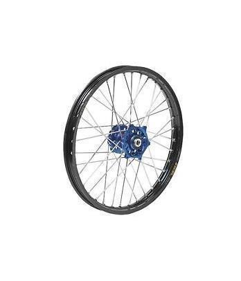 Dubya 56-4131DB Complete Front Wheel - Blue Talon HubBlack DID Dirtstar Rim - 160x21 Position Front Rim Size 21 Color Blue