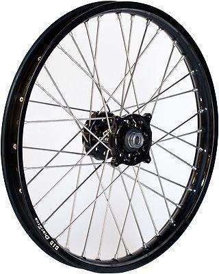 Dubya 56-4132BB Complete Front Wheel - Black Talon HubBlack DID Dirtstar Rim - 160x21 21