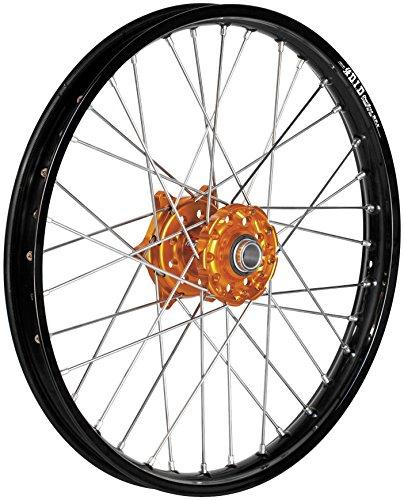 Dubya 56-4132OB Complete Front Wheel - Orange Talon HubBlack DID Dirtstar Rim - 160x21 Position Front Rim Size 21 Color Orange