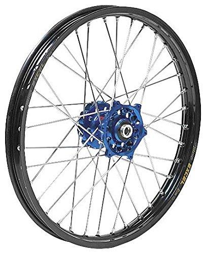 QTMBrembo OffroadATV Complete Front Wheel - Dark Blue Talon HubBlack Excel Takasago Rim - 160x21 Position Front Rim Size 21 Color Blue 56-3104DB