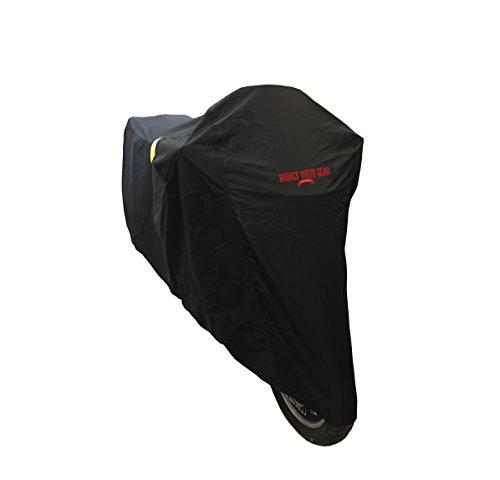 Badass Moto Gear All Wx Waterproof Motorcycle Cover Heavy Duty Night Reflective Windshield Liner Heat Shield Lock Pocket Taped Seams 96 For Small Cruisers Adv 800cc Sport Bikes MEDIUM