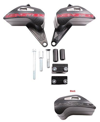 T-Rex Racing 15-on Ducati Monster 821 1200 S 1200S Frame Sliders Black
