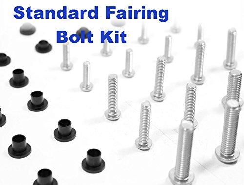 Standard Motorcycle Fairing Bolt Kit Yamaha 1998 - 1999 YZF-R1 Body Screws Fasteners and Hardware