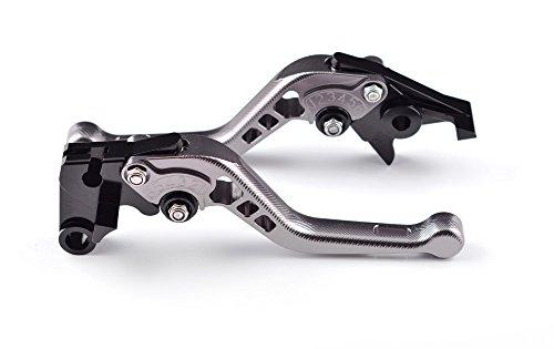 Tencasi Titanium CNC 3D Short Adjustable Brake Clutch Lever for YAMAHA YZF R6 1999-2004  YZF R1 2002 2003