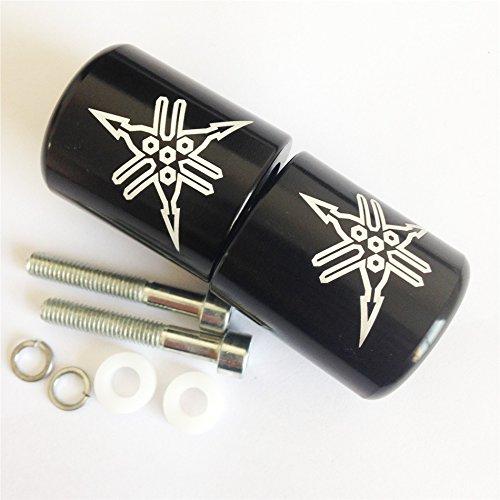 HTT Motorcycle Black  Engraved Logo Hand Bar Ends For Yamaha YZF R6 2006 2007 2008 2009 2010 2011 2012 not R6SYamaha YZF R1 1998-2012Yamaha FJR-1300 2003-2010