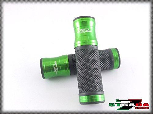 Strada 7 Racing CNC Aluminum Hand Grips Green For Yamaha FJR
