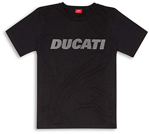 Ducati Carbon Fiber Graphic Art Short Sleeve T-Shirt Black Large