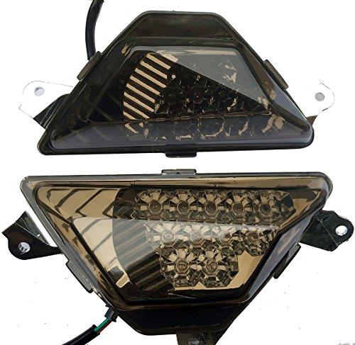 LED Front Turn Signals Blinkers Indicators with Smoke Lens for 2013 Kawasaki Ninja 650 EX650F ABS