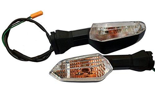 One pair Rear Clear Lens Blinkers Indicators Turn Signal Lights for 2013 Kawasaki Ninja 650 EX650E