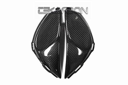 2008 - 2011 Honda CBR1000RR Carbon Fiber Side Tank Panels - Twill