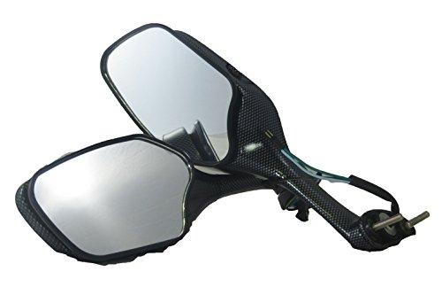 Tornado Brand Replacement Mirror Set For 2008-2013 Honda CBR1000RR Carbon Fiber