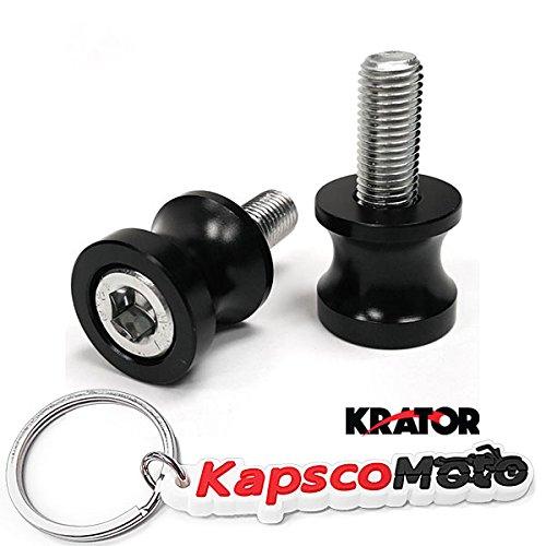 Krator Low Profile 10mm Black Swingarm Spools Fits Most Kawasaki Bikes KAWASAKI ZX6 ZX6R ZX6RR ZX9R ZX10-R ZX12-R ZX14 NINJA EX600 ZZR600  KapscoMoto Keychain