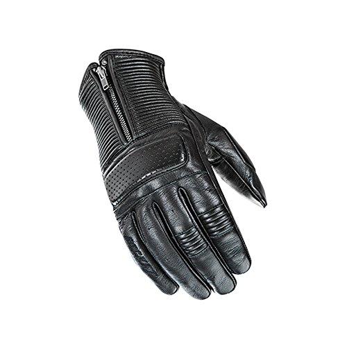 Joe Rocket Cafe Racer Mens On-Road Motorcycle Leather Gloves - Black  Large