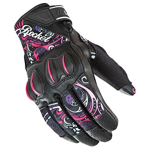 Joe Rocket Cyntek Womens Mesh On-Road Motorcycle Leather Gloves - Eye Candy  Large