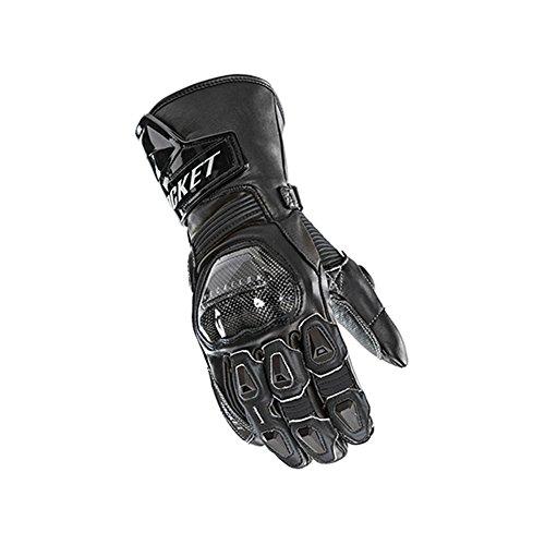 Joe Rocket GPX Mens On-Road Motorcycle Leather Gloves - BlackBlack  Large