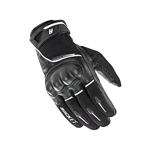 Joe Rocket Supermoto Mens On-Road Motorcycle Leather Gloves - BlackWhite  Medium
