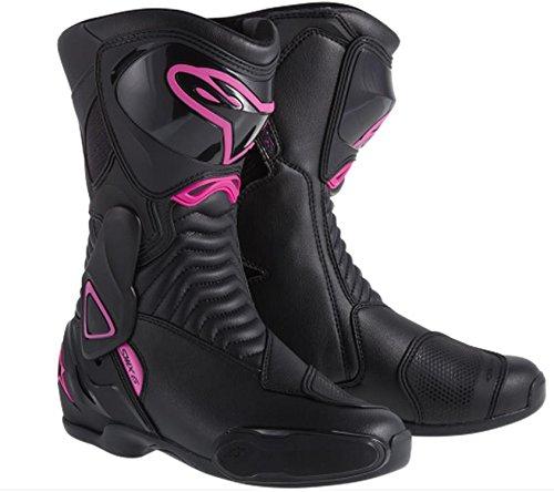 Alpinestars Stella SMX-6 Womens Boots Primary Color Black Size 5 Distinct Name BlackPink Gender Womens 2223114-139-36