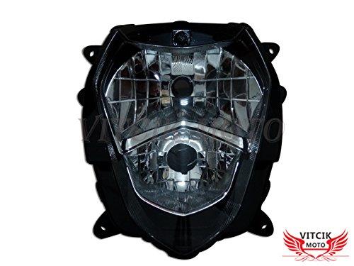VITCIK Motorcycle Headlight Assembly for Suzuki GSXR1000 K3 2003 2004 GSXR 1000 K3 03 04 Head Light Lamp Assembly Kit Black