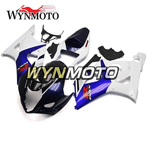 WYNMOTO Motorcycle Full Fairing Kit For Suzuki GSXR1000 K3 2003 2004 Gsxr 1000 03 04 New White Blue Black Sportbike ABS Plastic Injection Cowlings