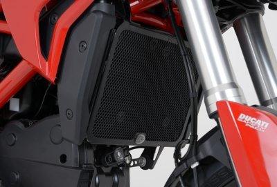 R&G Radiator Guard BLACK - Ducati Hypermotard 820