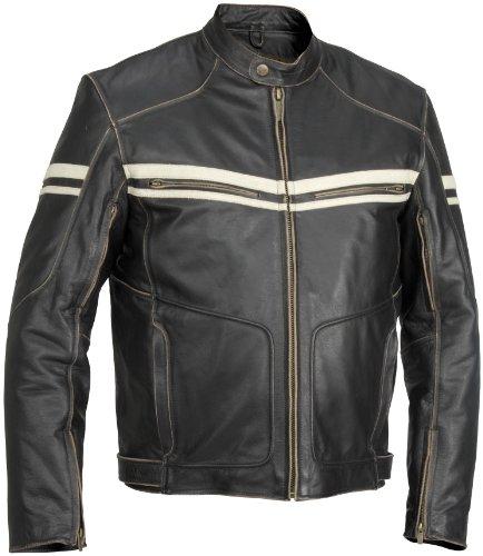 River Road Hoodlum Vintage Leather Jacket  Gender MensUnisex Size 52 Apparel Material Leather Primary Color Black Distinct Name Black XF09-4852