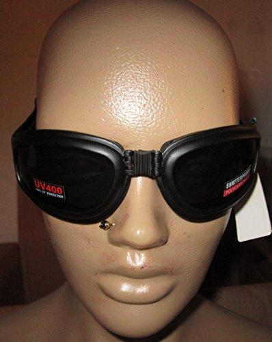 River Road Mach 3 Goggles  Distinct Name Smoke Lens Primary Color Black Gender MensUnisex TRS20