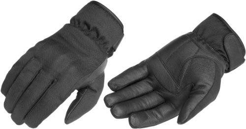 River Road Mens Ordeal TouchTex Leather Motorcycle Gloves Black Large L