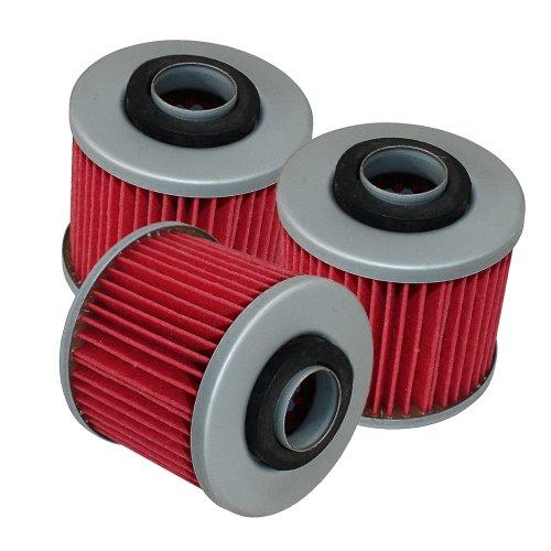 Caltric 3-PACK Oil Filter Fits YAMAHA XTZ660 XTZ-660 TENERE 660 1991-1999