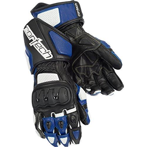 Cortech Impulse Rr Adult Textile Street Bike Motorcycle Gloves - White/blue / 2x-large