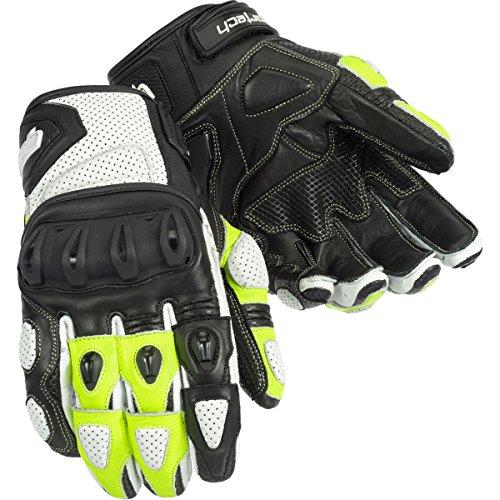 Cortech Impulse St Adult Street Bike Motorcycle Gloves - White/hi Viz / 2x-large