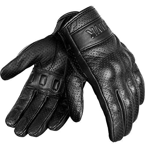 HWK Motorcycle Gloves Men Motocross Motorbike Tactical Moto Riding Biker Leather Driving Racing Gloves  2XL