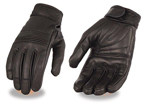 Ladies Premium Leather Riding Gloves wGel Palm Flex Knuckles