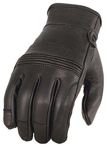 Milwaukee Leather Mens Riding Glove wGel Pam Flex Knuckles-Black-X-Large