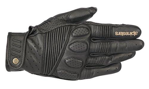 Oscar Crazy Eight Leather Street Motorcycle Riding Glove XL Black Black